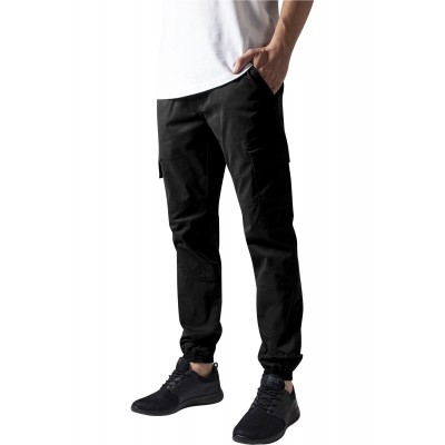 Urban Classics - Washed Cargo Twill Jogging Pants black