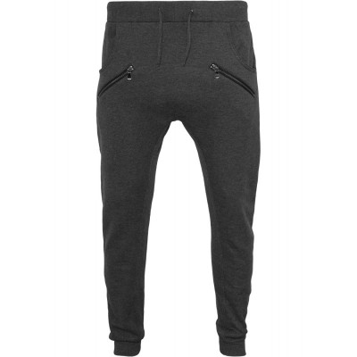 Urban Classics - Zip Deep Crotch Sweatpants charcoal