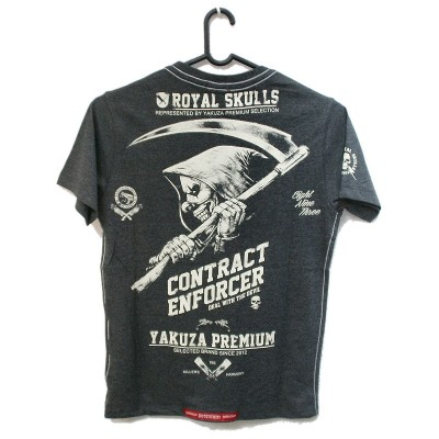 Yakuza Premium Contract Enforcer T-Shirt YPS-1915 (dunkelgrau)