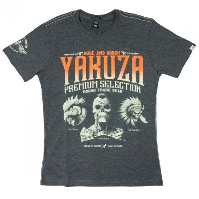 Yakuza Premium T-Shirt 2114 Ride on my enemies dunkelgrau