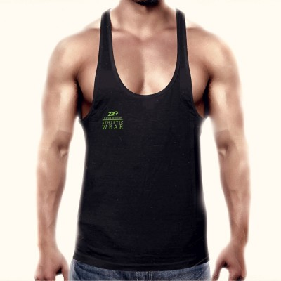 Zec+ Athletic Stringer Men Backprint Schwarz