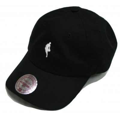 Mitchell & Ness Strapback NBA Dribbler Logo Black White