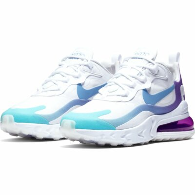 Nike Damen Schuh Nike Air Max 270 React whitelight blue ...