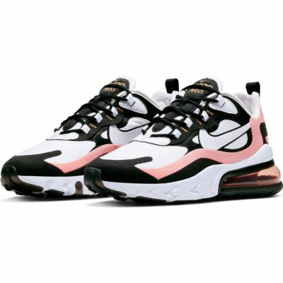 Nike Damen Schuh Nike Air Max 270 React black/white-bleached coral-metallic gold