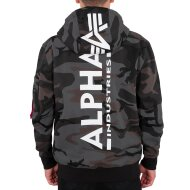 Alpha Industries Herren Hoodie Back Print Camo black camo