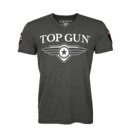 Top Gun T-Shirt Hyper mit Patches anthracite