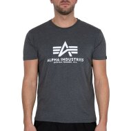 Alpha Industries Herren T-Shirt Basic Logo charcoal...