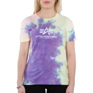 Alpha Industries Damen Basic T-Shirt Batik Wmn purple batik
