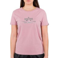 Alpha Industries Damen New Basic T-Shirt Foil Print...