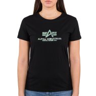 Alpha Industries Damen New Basic T-Shirt Holografic Print...