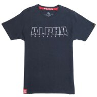 Alpha Industries Herren T-Shirt Embroidery Heavy T rep.blue