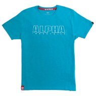 Alpha Industries Herren T-Shirt Embroidery Heavy T blue...