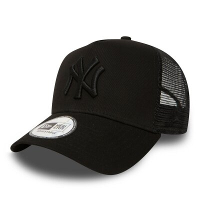 New Era 9FORTY Kids A-Frame Trucker Cap New York Yankees all black