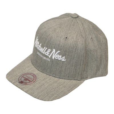 Mitchell & Ness Pinscript 110 Curved Snapback grey heather