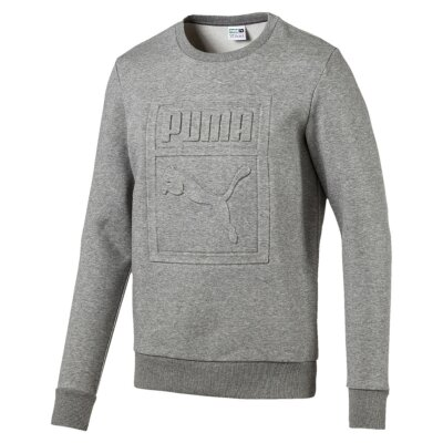 PUMA Crewneck Archive Embossed Logo grey heather