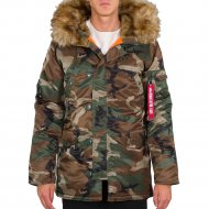 Alpha Industries - N3B VF 59 Winterjacke woodl. camo 65