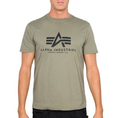 Alpha Industries T-Shirt Basic Logo olive
