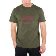 Alpha Industries T-Shirt Basic Logo dark green