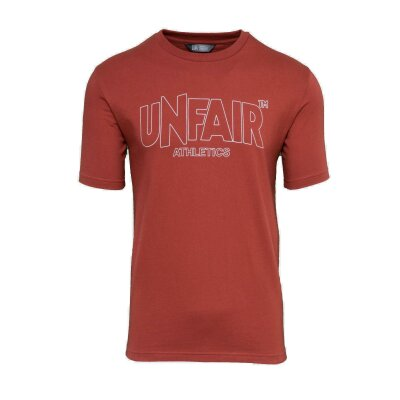 Unfair Athletics Classic Label T-Shirt Outlines Red