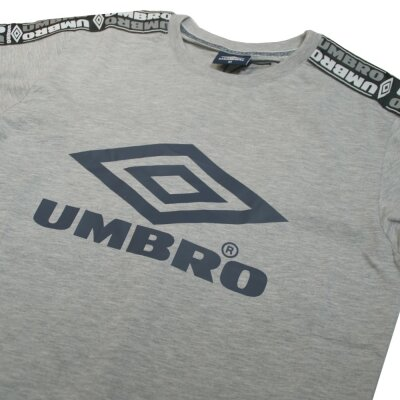 Umbro Taped Crew T-Shirt grey marl