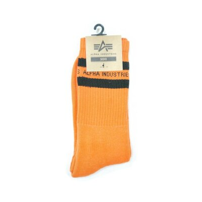 Alpha Industries Stripe Socks Socken orange
