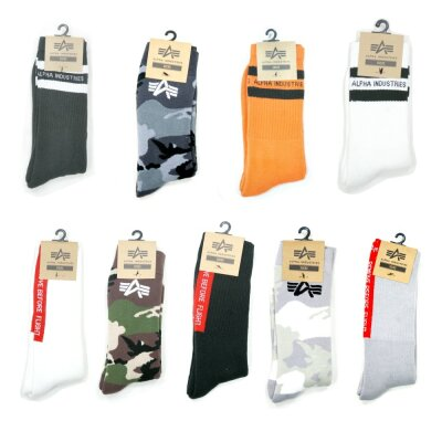 Alpha Industries Socks Socken RBF Stripe camo uvm.