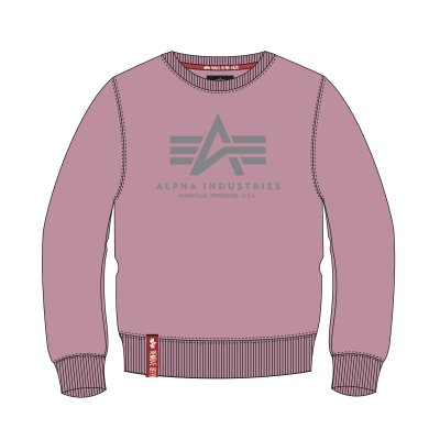 Alpha Industries Basic Sweater silver pink