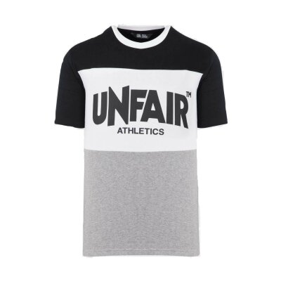 Unfair Athletics Classic Panel T- Shirt Multicolor black/white/grey
