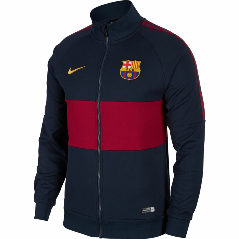 Nike Fc Barcelona Trainingsjacke Obsidian Noble Red